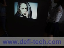 Dark grey rear projection fabric width is 1.52m and the length is no limit