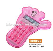 8 digits foot shaped calculator