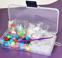 Mini plastic box change color UV beads hot sale loom bands kit/loom band kit 600