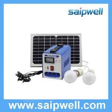 Saip/Saipwell New Design Home and Camping Use 10W/20W/30W/40W/50W/60W Mini Solar Power System