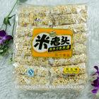 traditional grain snack, 400g peanut flavor crispy puffed rice rolls