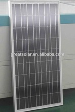 high quality 130w poly solar panel in hot selling