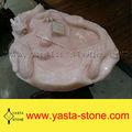 Caliente venta pulido Pink Onyx mármol artesanías