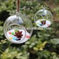 Vidro de suspensão suporte de vela de bolas mh-12563