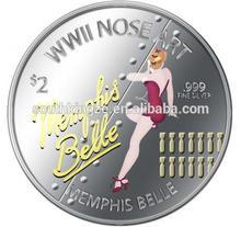 World War ll nose art silver Coin