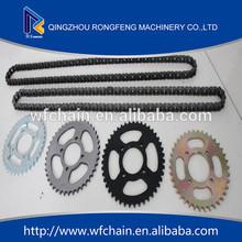 Best custom motorcycle chain and sprocket kits motorcycle parts for Honda,Suzuki,Kawasaki,Bajaj motorcycle