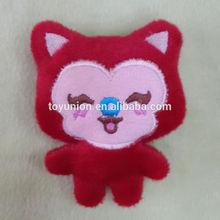 YXY-20 best sale 8cm soft plush red fox keychain