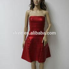 new fashion 2014 sexy ladies dress A-line red wedding bandage dress