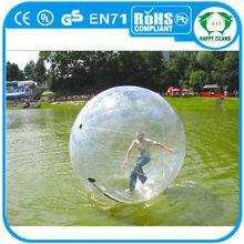 2014 HI CE 1.0mm PVC/TPU water walking roller balls,water jumping ball,water ball game