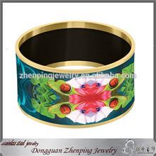 Cheap jewelry men's 316l stainless steel bracelet custom enamel bangles