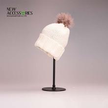 unique fur pompom child beanie hats