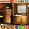 Great price quality modern style blue glass wash basins bathroom vanity