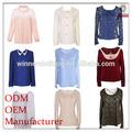 Alta- fim design de moda de roupas femininas fabricante das senhoras blusa& topo
