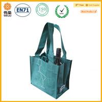 custom wine bottle carrier shopping packing bag