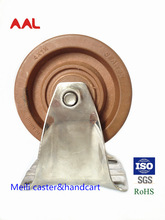 Food Safety Standards 4'' Medium Duty High Temperature Rigid Caster Wheel For Baking ,SGS,Rohs