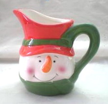 Haonai hot sales ceramic Christmas milk mug cream cup factory directly