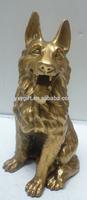 copper wolfdog sculpture/home art lucky wolf dog/metal art products