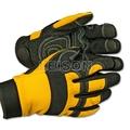 De cuero guantes de kevlar/de de guantes de kevlar con transpirable y flexible