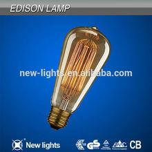 ST64 Vintage carbon filament light bulbs in Edison bulb shape