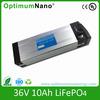 High safety Lifepo4 36v 10ah ebike battery