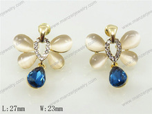 Charming embellished opal Charming earring custom picture