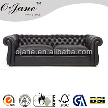 black button couches,luxury wholesale leather sofa SF-2819