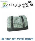 Lovoyager 2014 winter cotton pet carrier bag with leather handles