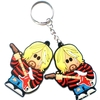 High quality Cartoon soil shifter ,soft PVC key chain ,3d pattern ,couble sides
