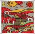tela impressa japonesa lenço de seda