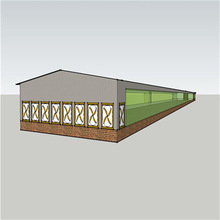 plastic mesh netting for farm made by steel framing