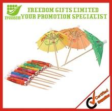 Logo Branded Mini Paper Umbrella for Promotional