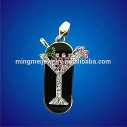 Cocktail Glass Jewelry Usb Flash Drive