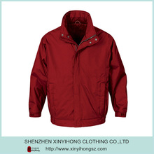 Blank Red Zipper Up 100% Nylon Men's National Sports Store Jackets