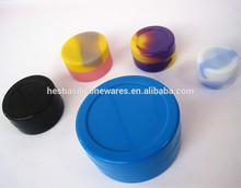 Custom FDA approved food grade 28ml,11ml,7ml,5ml,4.5ml,3ml small non-stick silicone container for wax