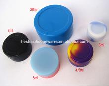 Custom FDA approved food grade 28ml,11ml,7ml,5ml,4.5ml,3ml small non-stick bho silicone container storage container