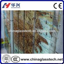 CE Certificate Elegant Appearance Size Customized Decorative Glass Wall Art