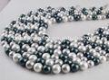 la madre de la perla de pequeño a gran tamaño de color mezclado hilos de perlas