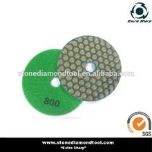 "4"" dry diamond hand polishing pads for granite"
