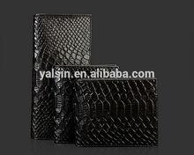 wgu3017c designer black crocodile snake man wallet genuine leather