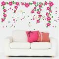 Factory outlet ay7099 fiore della vite quinto- generazione adesivi murali rimovibile pellicola in pvc trasparente
