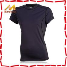 Ladies gym 100% polyester tshirts plain professional custom branded tshirts/polyester tshirts plain