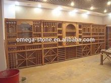nuevo estilo de promoción del hotel de cocina de madera de la cenefa