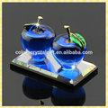 التفاح اليدوية الأنيقة الزرقاء الصافية للضيف حفل زفاف الهدايا الوجبات الجاهزة