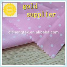 2014 Super Soft Polka Dot Printed Cotton Poplin Fabric Dot Printed Fabric