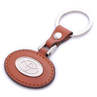promotional key chain metal toyota leather keychain