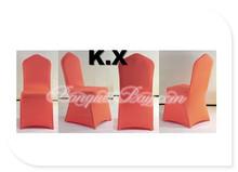 Orange Color Wedding Spandex Chair Cover Wedding Party Decoration