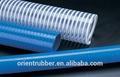 Alta presion en espiral de pvc reforzado con la manguera de succión/de agua de la manguera de succión/de aceite de la manguera de succión