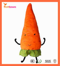 vegetable Type and fruits Plush Material Stuffed vegetables plush carrot toy