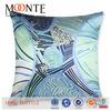 2014 hot sale fashion design polyester silk disposable decorative sublimation pillow case