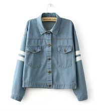 Z82222A 2014 autumn wholesale fashion latest denim lady jackets